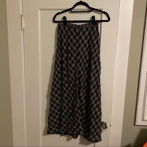 Apropos Plaid Maxi Skirt Size Small